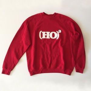 Vintage Red Santa Christmas Sweatshirt Ho Ho Ho